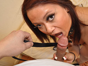 Asian Babe Is Leashed For Ownership